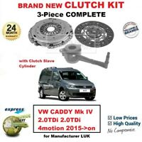 FOR VW CADDY Mk IV 2.0TDi 2.0tdi 4motion 2015->on NEW 3Piece CLUTCH KIT with CSC