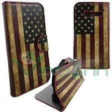 Custodia bandiera USA VINTAGE per Alcatel One Touch Pop C5 cover book stand