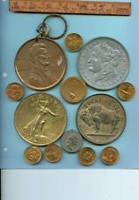 LARGE EXONUMIA COIN MEDALS FROM OLD TIME COLLECTION!!..STARTS@ 2.99
