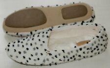 Clarks Cozily Snug White/Black ladies slippers sizes 3 - 8 D