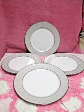 6 Mikasa Parchment Platinum Dinner Plates With Tags