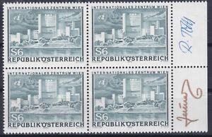 Int. Zentrum Wien 4er Block Unterschriften Stecher / Entwerfer