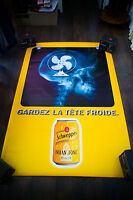 SCHWEPPES C 4x6 ft Bus Shelter Original Vintage Advertising Poster