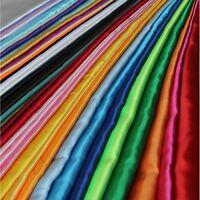 20 Yards 60 Inch Satin Fabric Bows Sash TableCloths Runner Overlay USA 22 COLORS