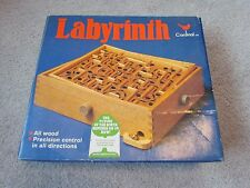 LABYRINTH CARDINAL WOOD GAME PUZZLE 2 STEEL BALLS BOX NO 190 EXCELLENT CONDITION