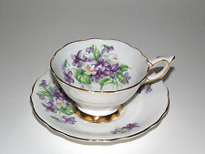 ROYAL STAFFORD TEA CUP AND SAUCER VIOLET PATTERN TEACUP  #08262016