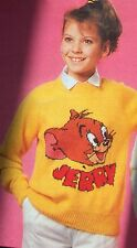 "Jerry Jumper from ""Tom & Jerry""  Knitting Pattern ( child and adult size )"