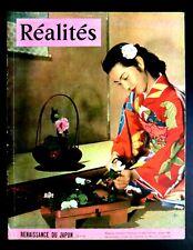 MAGAZINE RÉALITÉS N°75  Avril 1952     RENAISSANCE DU JAPON      Ed SNEP