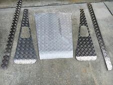 Land Rover Defender 90 Chequer Checker Plate Hood Sill Wing Protectors Full Kit