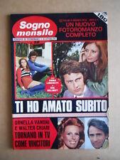 SOGNO MENSILE n°98 1972 Fotoromanzo - Ornella Vanoni Walter Chiari  [C95]