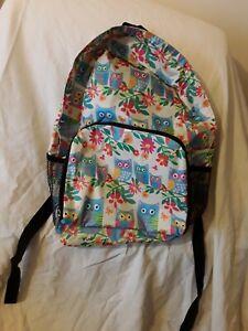 Owl Print Hemp Backpack Large Nepali Adjustable Rucksack