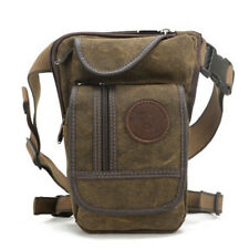High Quality Canvas Men Waist Pack Leg Drop Bags Motorcycle Belt Bum Hip Purse