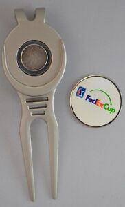 FED EX CUP Logo DIVOT REPAIR TOOL w/Removable BALL MARK