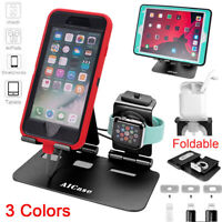 3in1 iPad Tablet iPhone Apple Watch AirPods Charging Dock Station Holder Stand