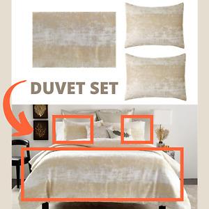NIB $500 Michael Aram Texture Duvet Cover Set Gold [ FULL / QUEEN ] #D228