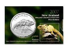 2007 TAUTARA LIZARD  $5 DOLLARS BU COIN FROM NZ