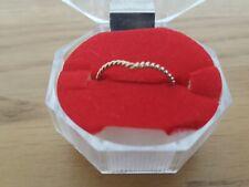 VINTAGE 9ct Oro Corda Braccio Oscillante Anello Dimensione J 1/2, gioielli d'oro