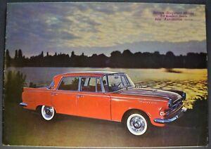 1960-1961 Borgward Sedan Brochure English German French Text Excellent Original