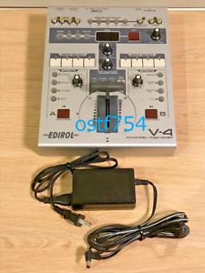 Edirol V-4 4 Channel Video Mixer Switcher Roland Full Digital 4 In 3 Out V-Link