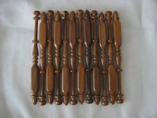 "12x bobbin lace bobbins 4.5"" square in Ipe Rosewood that do not roll on pillow"