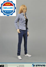 "1/6 Plaid Shirt Tank Top Jeans Set For Phicen Hot Toys 12"" Female Figure ❶USA❶"