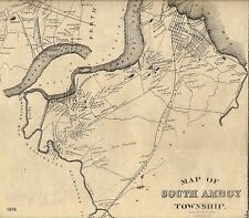 South Amboy Madison Park Sayreville NJ 1876 Maps with Homeowners Names Shown