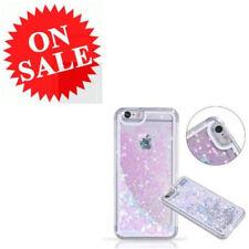 Verizon iPhone 7 Plus 3D Liquid Case Blue Pink Love Heart Bling Clear Back Cover