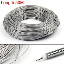 50m RG405 RF Coaxial Cable Connector Flexible RG-405 Coax Pigtail 164ft UK