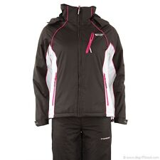Veste Manteau ski broad peak marron rose blanc  taille 38/40 capuche amovible