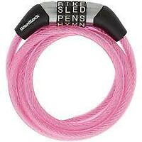 NEW  PINK WORDLOCK Word Combination Flexible Steel Cable bike lock 4 ft x .24""