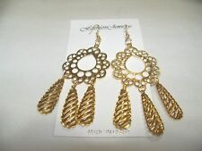 "NEW CLASSY LONG 4"" DANGLE GYPSY STYLE EARRINGS - CHANDELIER STYLE....NICE"