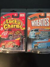 2003 HOT WHEELS Lucky Charms & Wheaties Customized Drag Buses!!! Set Of 2