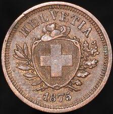 More details for 1875 | switzerland 1 rappen | bronze | coins | km coins