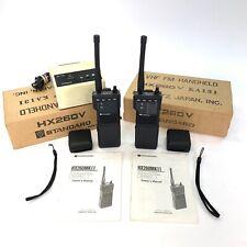 Vintage STANDARD HX260V KB VHF FM Handheld Transceiver Marantz Japan Pair RARE