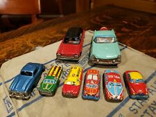 Vintage Tin Litho Friction Miniature Cars & Trucks - Japan