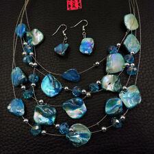 Betsey Johnson Fashion Jewelry Elegant Beauty Shell Choker Necklace Earrings Set