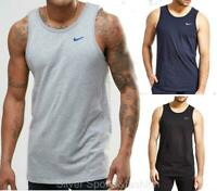 New Nike Mens Cotton Vest Tank Sleeveless T-Shirt S - XL Black Grey Navy singlet