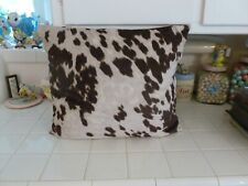 Nice Clean Brown Cow Hide Western Decorator Pillow 18x16