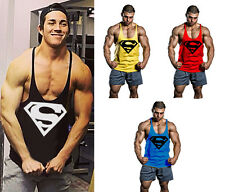 Pro Gym Superman Men Tank tops Workout Stringer Bodybuilding Training Undershirt