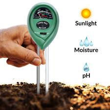3-en-1 Testeur PH Sol Eau humidité Clair testeur Mètre pour Plantes De Jardin BR