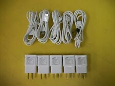lot of 5x OEM Samsung Galaxy Note 3 S5 Charger + 5x OEM USB 3.0 Data Sync Cable