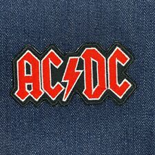 Ac/Dc Rock Band Logo Red Iron On Embroidered Patch