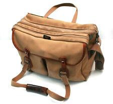 Billingham 445 Large Canvas Camera Bag - Khaki / Tan / Leather - Shoulder Bag