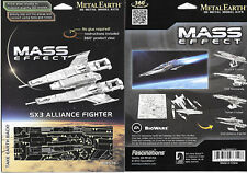 Mass Effect Game SX3 Alliance Fighter Metal Earth 3-D Laser Cut Steel Model Kit