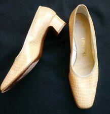 Vintage Deliso Tan heels pumps shoes Sz 8.5 B Block heel