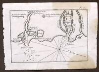 Roux - Port de Goro - Stampa Portolano Italia - Porto di Goro - 1779