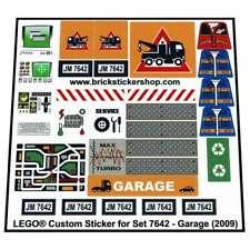 Precut Custom Replacement Sticker voor Lego Set 7642 - Garage (2009)