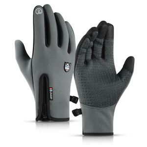 Mens Winter Sports Warm Gloves Windproof Thermal Touch Screen Outdoor Mittens