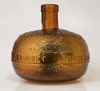 Antique P. BARDINET BORDEAUX French Liquor Bottle Orange Figural w Green Leaves