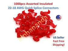 1000x Red Scotch Lock Quick Splice Wire Cable Connector Terminal Crimp 22-18 AWG